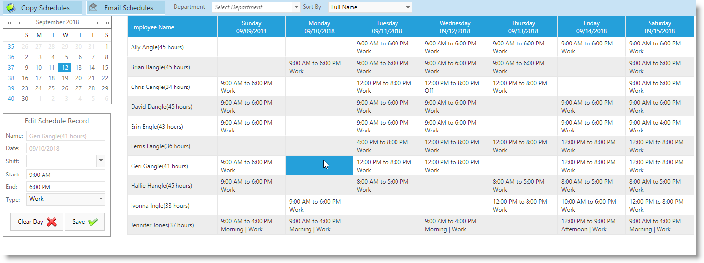 envision cloud user guide work schedule